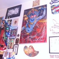 Photo taken at Modern Tattooing: Schiffmacher & Veldhoen by Panther M. on 4/17/2013