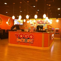 Photo taken at Yogo Factory by Rosette Ann P. on 2/25/2014