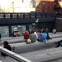 Photo taken at High Line 10th Ave Amphitheatre by Lara S. on 10/21/2012