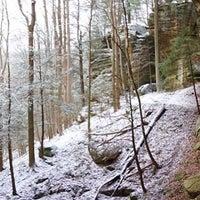 Photo taken at Hocking Hills State Park by Adam S. on 1/13/2017