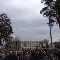 Photo taken at Площадь им. В.И. Ленина by Tovis B. on 5/9/2014