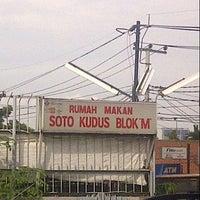 Photo taken at Soto Kudus Blok M by Bintang L. on 12/23/2012