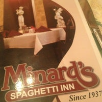 Photo taken at Minard's Spaghetti Inn by Jennifer on 10/6/2012