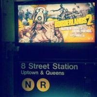 Photo taken at MTA Subway - 8th St/NYU (R/W) by Nicolas T. on 9/15/2012