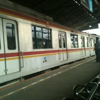 Photo taken at Stasiun Jatinegara by frdbgns on 11/2/2012