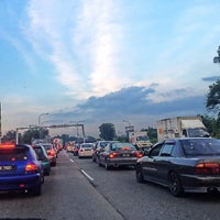 Photo taken at Pasir Gudang Highway by Nur F. on 6/7/2016