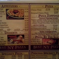 Photo taken at Best New York Pizza by LeslieandChris R. on 10/2/2012