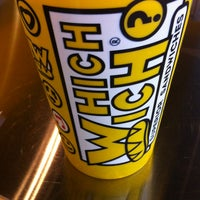 Photo taken at Which Wich? Superior Sandwiches by Rachel B. on 1/16/2013