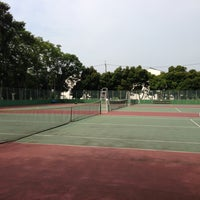 Photo taken at 手代木公園テニスコート by Hiroyuki K. on 7/13/2013