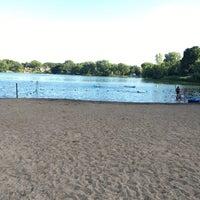 Photo taken at Silver Lake Beach by Suganya U. on 7/4/2017