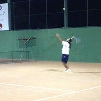Photo taken at Quadras De Tenis Do Bela by Mariana T. on 2/28/2013