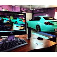 """Photo taken at Ohmywheels """"wrapping studio"""" by Паня Л. on 3/31/2014"""