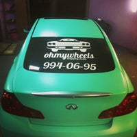 """Photo taken at Ohmywheels """"wrapping studio"""" by Паня Л. on 4/2/2014"""