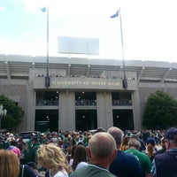 Photo taken at Notre Dame Stadium by Brian C. on 9/21/2013