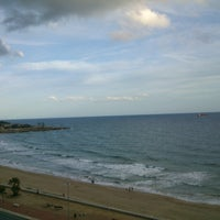 Photo taken at Platja del Miracle by Andrea F. on 10/17/2012