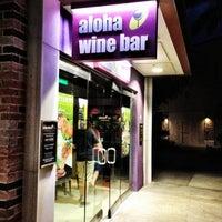 Photo taken at Aloha Wine Bar by Winery E. on 5/8/2013