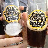 Photo taken at Live Oak Brewery by Rebecca A. on 12/2/2012