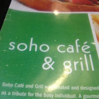 Photo taken at Soho Cafe & Grill by Sarah A. on 10/8/2012