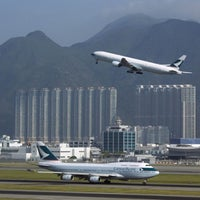Photo taken at Hong Kong International Airport (HKG) by Stefan S. on 9/28/2013