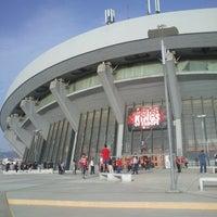 Photo taken at SEF - Peace & Friendship Stadium by Panagiotis M. on 6/7/2013