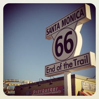 """Photo taken at Santa Monica Route 66 """"End of the Trail"""" by Mario R. on 7/17/2013"""