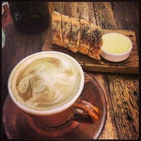 Photo taken at Wildflour Café + Bakery by joyce on 4/18/2013