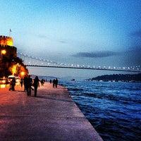 Photo taken at Rumelihisarı Sahili by Cuneyt Y. on 3/30/2013