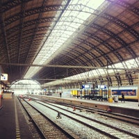 Photo taken at Amsterdam Central Railway Station by Caner G. on 5/10/2013