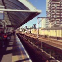 Photo taken at Shadwell DLR Station by Dan B. on 10/6/2012