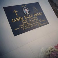 Photo taken at Catholic Cemetery Miri by Clare P. on 11/2/2012