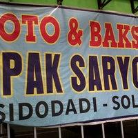 "Photo taken at Baso Sidodadi ""Pak Saryo"" by Fenty A. on 8/11/2013"