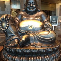 Photo taken at Big Buddah Statue at ARIA by Ney Huberto N. on 10/12/2012
