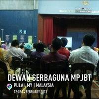 Photo taken at Dewan Mpjbt by Rohaizad S. on 2/14/2013
