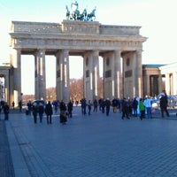 Photo taken at Pariser Platz by Mārtiņš P. on 11/26/2012