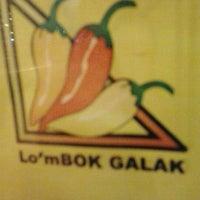 Photo taken at Lombok Galak by intan p. on 10/20/2012