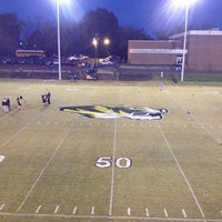 Photo taken at HHS Football Field by Jim V. on 10/26/2012
