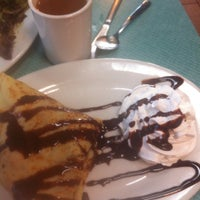 Photo taken at Crepes & More by Emma P. on 8/10/2013