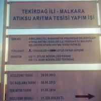 Photo taken at Atiksu Arıtma Tesisi Malkara by Serdar G. on 10/21/2013
