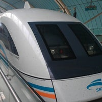 Photo taken at Maglev Train Longyang Road Station by Michael S. on 10/21/2012