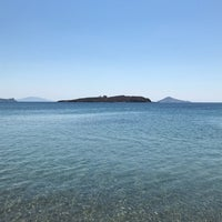 Photo taken at Agriolivadi beach by Lilian D. on 8/7/2018