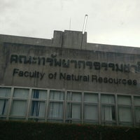 Photo taken at Faculty of Natural Resources by Savichai J. on 12/20/2015