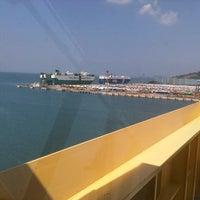 Photo taken at Laem Chabang International Terminal Com.,Ltd.(B5&C3) by Somnuek T. on 10/18/2012
