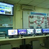 Photo taken at stasiun meteorologi Hangnadim Batam by Adjie S. on 12/12/2012