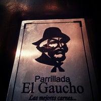 Photo taken at Parrillada El Gaucho by Maria Alejandra S. on 12/1/2012