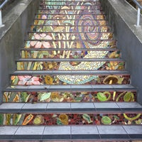 Photo taken at Hidden Garden Mosaic Steps by Andrew T. on 10/15/2017