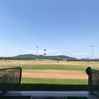 Photo taken at Sky72 Dream Golf Range by Woong B. on 6/4/2017