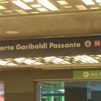 Photo taken at Passante Porta Garibaldi (Linee S) by Serena on 10/8/2012