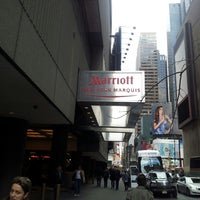 Photo taken at New York Marriott Marquis by Abel R. on 3/26/2013