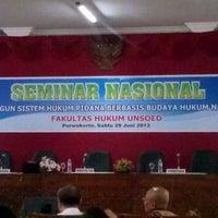 Photo taken at Program Pascasarjana Magister Ilmu Hukum UNSOED by zacky c. on 6/29/2013