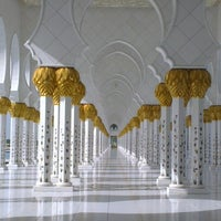 Photo taken at Sheikh Zayed Grand Mosque by Victoria X. on 1/14/2013
